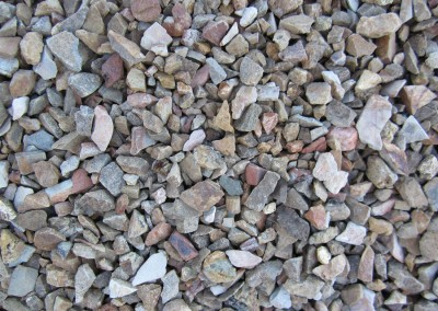 "Desert Brown 1/2"" screened landscape rock"
