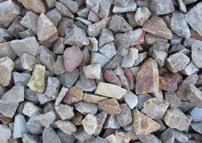 "Desert Brown 3/4"" screened landscape rock"