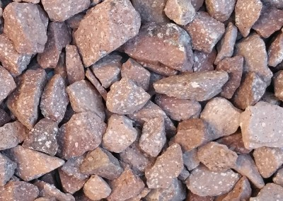 "Desert Mauve 3/4"" screened landscape rock"