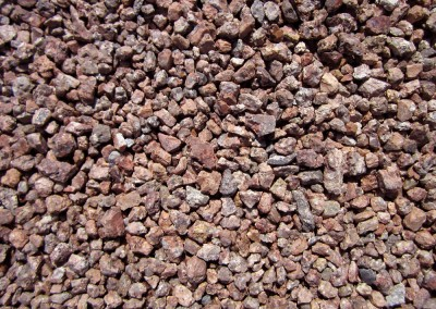 "Desert Rose 1/2"" screened landscape rock"