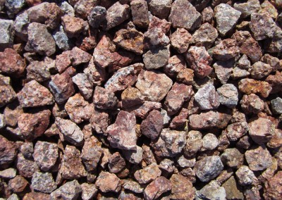 "Desert Rose 3/4"" screened landscape rock"
