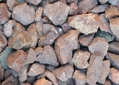 "Desert Spice 3/4"" screened landscape rock"