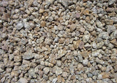 "Madison Gold 1/2"" screened landscape rock"