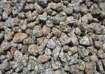 "Madison Gold 3/4"" screened landscape rock"