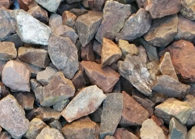 "Mountain Vista Brown 1"" Screened landscape rock"