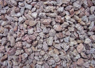 "Pink Coral 1/2"" Screened Landscape Rock"