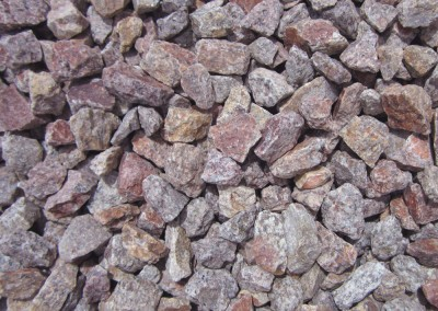 "Pink Coral 3/4"" Screened landscape rock"