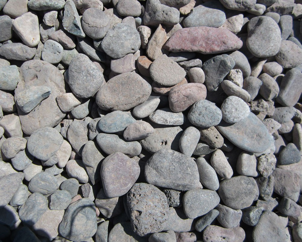 River rock pea gravel sand az rock express 480 for Landscaping rocks by the ton