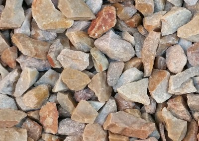 "Superior Gold 1/2"" Screened landscape rock"