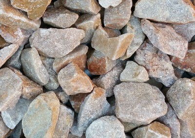 "Superior Gold 1"" Screened landscape rock"