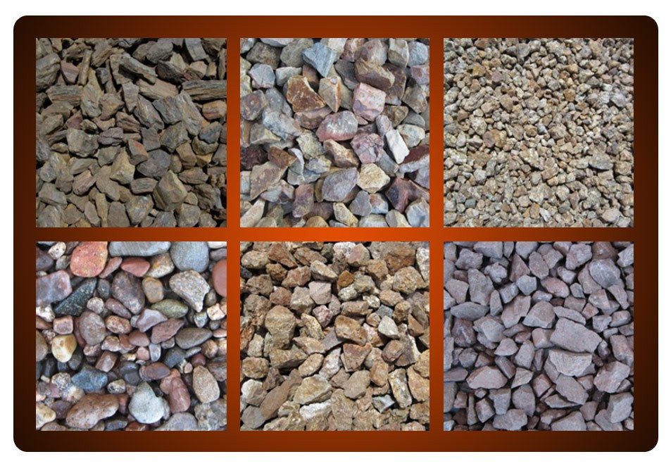 screened rock selection