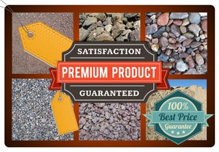 landscape rock products pricing graphic